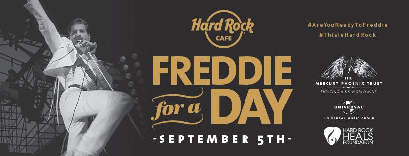 エイズ撲滅チャリティイベント freddie for a day hard rock cafe